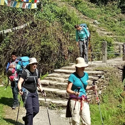 Poonhill yoga trek in Nepal